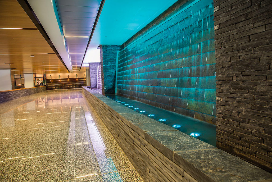 Calgary Airport Water Wall: Architectural Water Feature