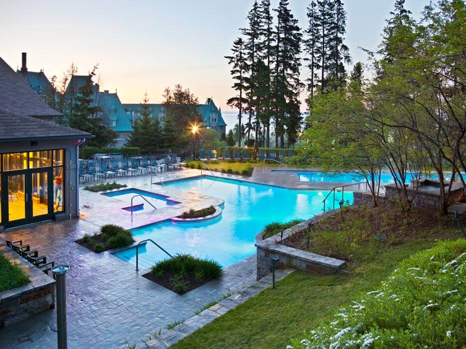 Commercial swimming pool project in Canada